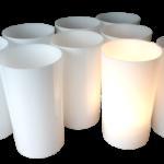 Luminaire base conique